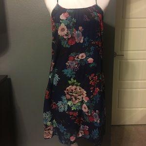 Boho navy floral dress
